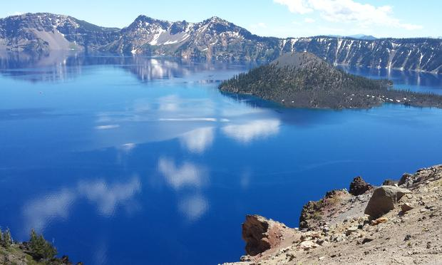 Crater Lake National Park in Oregon.