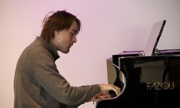 Pianist Daniil Trifonov warms up in the Greene Space.