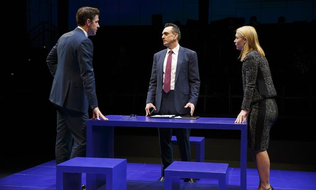 John Krasinski, Hank Azaria and Claire Danes star in 'Dry Powder' at The Public Theater.