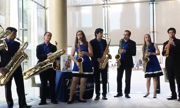 The Eastman Saxophone Project plays selections from Tchaikovsky's Nutcracker Suite, with a twist.