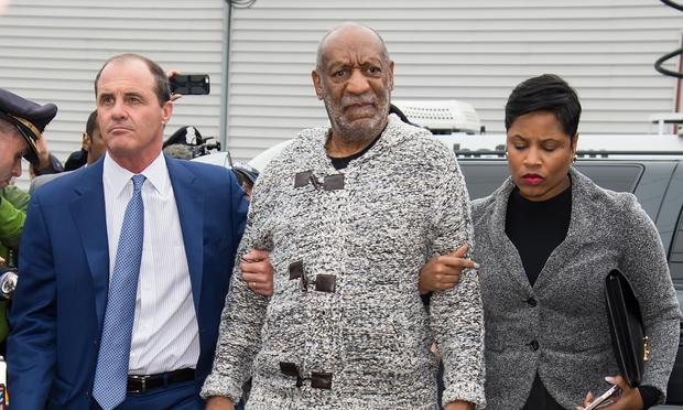 Bill Cosby arriving at the District Court in Pennsylvania