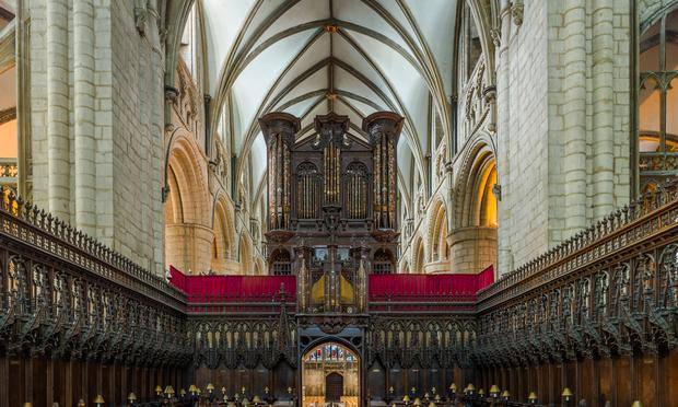 Gloucester Cathedral features a 1999 Nicholson organ.
