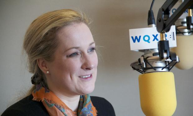 Diana Damrau at the WQXR studios