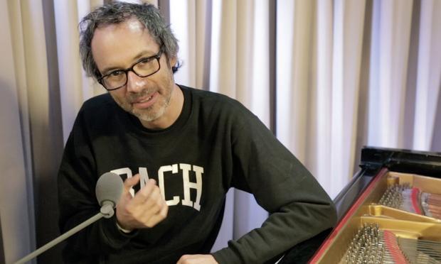 James Rhodes in the WQXR studios.