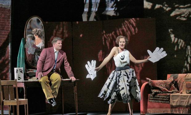 Daniel Brenna and Marlis Petersen in Lulu.