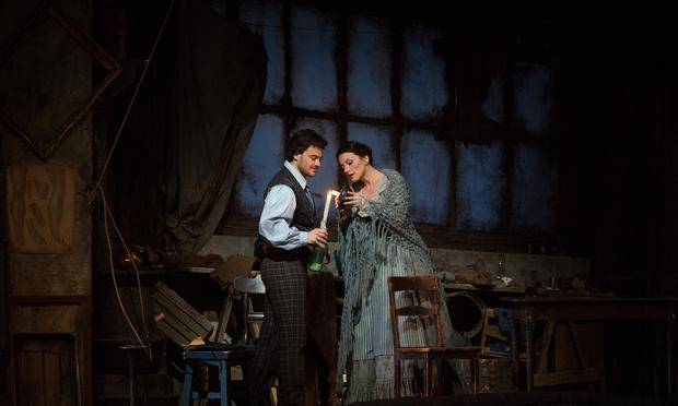Vittorio Grigolo as Rodolfo and Anita Hartig in her Met debut as Mimì in Puccini's 'La Bohème.'