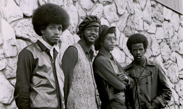 The Lumpen, 1970. Left to right: James Mott, Bill Calhoun, Michael Torrance, and Clark Bailey.