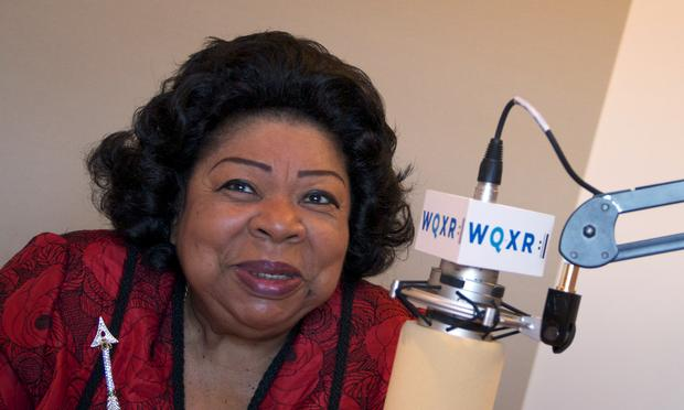 Soprano Martina Arroyo in the WQXR studio.