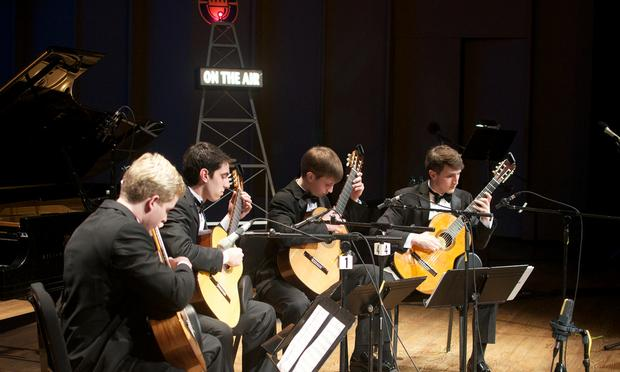 The McCallie Guitar Quartet.