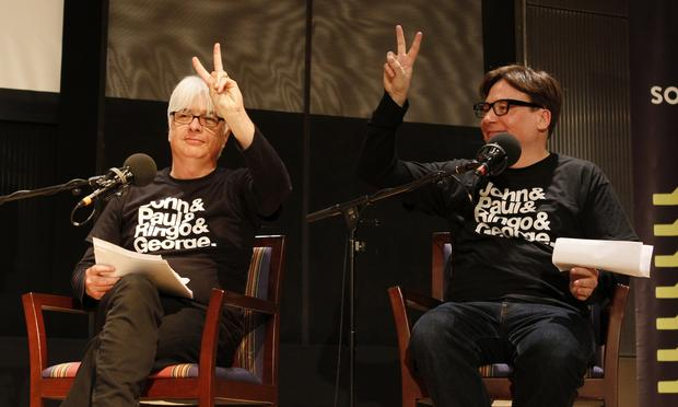 After their triumphant showing at the Beatles vs. Rolling Stones Smackdown, Mike and Paul Myers returned to Soundcheck to play some of their favorite songs.