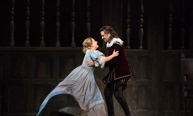 Diana Damrau as Elvira and Luca Pisaroni as Giorgio in Bellini's 'I Puritani'