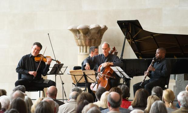 New York Philharmonic's Alan Gilbert, Inon Barnatan, Carter Brey and Anthony McGill Perform Messiaen