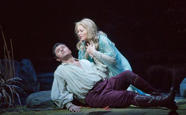 Piotr Beczala as the Prince and Renée Fleming in the title role of Dvořák's 'Rusalka.'