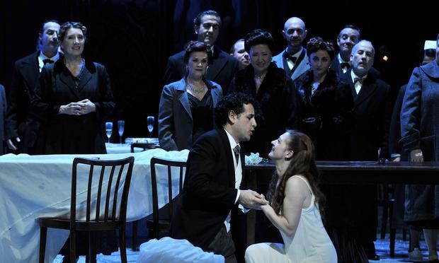 Juan Diego Flórez as Elvino and soprano Patrizia Ciofi as Amina in 'La Sonnambula.'