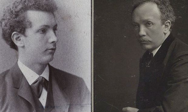 Composer Richard Strauss at 22 years old and Strauss in his later years.