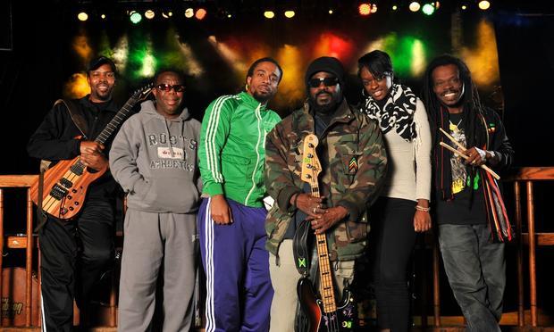 Original Wailer Aston 'Family Man' Barrett (third from right) carries on a reggae tradition