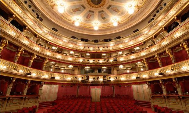 A view from the stage of Vienna's Theater an der Wien.
