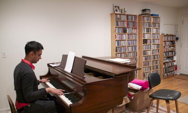 Composer and pianist Vijay Iyer in his Harlem home.