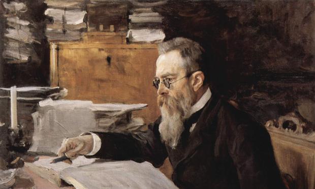 Portrait of Nikolai Rimsky-Korsakov by Valentin Serov.