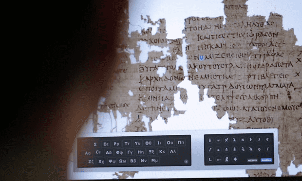 Still from 'Citizen Science translating ancient lives'