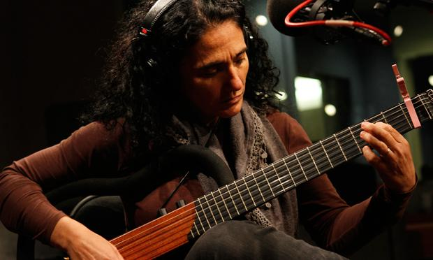 Badi Assad performs in the Soundcheck studio.