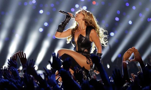 Beyoncé performs during the Pepsi Super Bowl XLVII Halftime Show at the Mercedes-Benz Superdome on February 3, 2013 in New Orleans, Louisiana