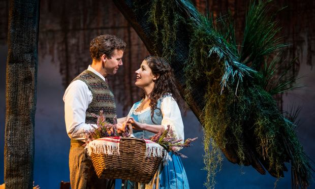 Kevin Earley as Tommy and Jennie Sophia as Fiona in Lerner and Loewe's 'Brigadoon' at the Goodman Theatre.