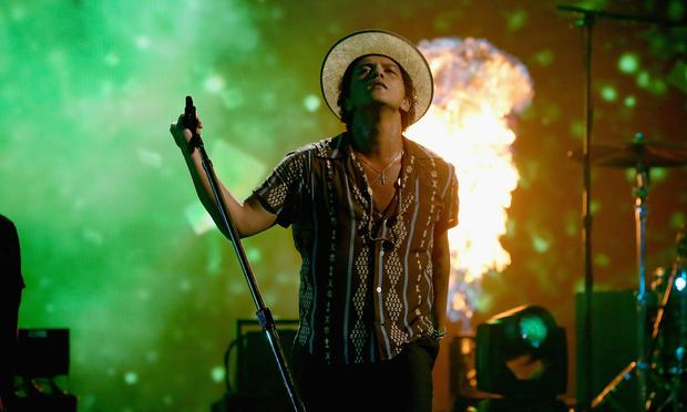 Bruno Mars onstage during the iHeartRadio Music Festival in Las Vegas on Sept. 21, 2013.