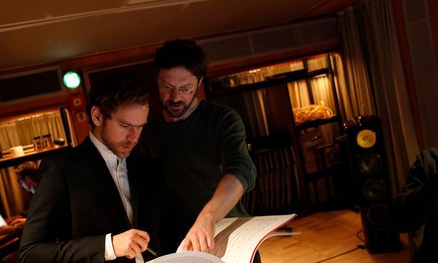 Composer Bryce Dessner and condctor André de Ridder