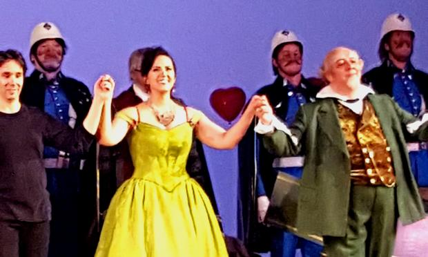 Daniela Mack takes her curtain call in the Royal Opera House's 'Barber of Seville.'