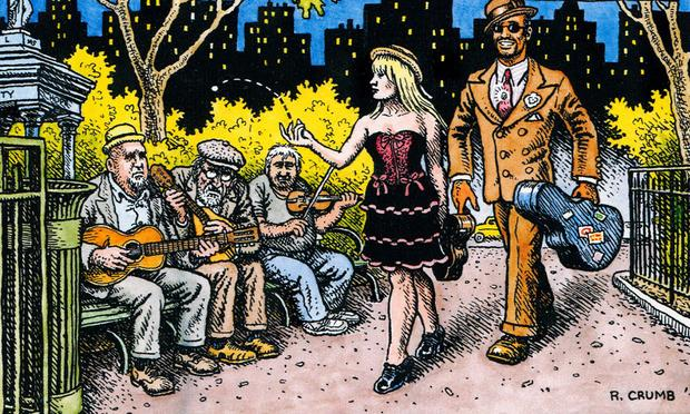Illustrator and indie comics godfather R. Crumb not only does the artwork for East River String Band's albums, but is an honorary member.