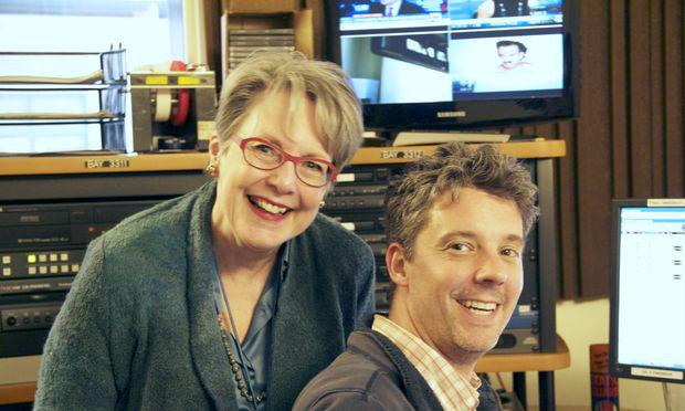 Operavore Producer Elaine Warner and Engineer Bill Bowen
