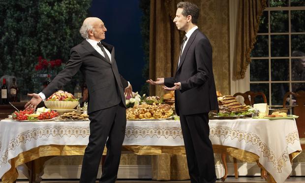 Larry David as Norman Drexel and Ben Shenkman as Arthur Drexel in 'Fish in the Dark.'