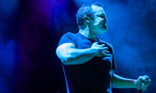 Future Islands' Samuel Herring, performs live at the 9:30 Club in Washington D.C. on May 1, 2014.