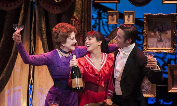 Victoria Clark as Mamita, Vanessa Hudgens as Gigi and Corey Cott as Gaston Lachaille in 'Gigi' at the Neil Simon Theatre.