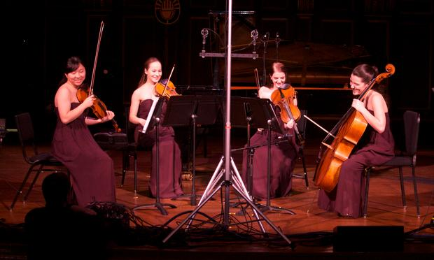 The Quartet Noce: Joy Kuo, Rose Moerschel, Sloane Wesloh and Drake Driscoll.