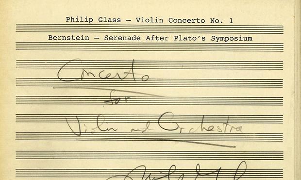 Philip Glass Leonard Bernstein