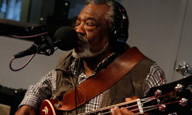 Sherman Holmes of The Holmes Brothers performs in the Soundcheck studio.