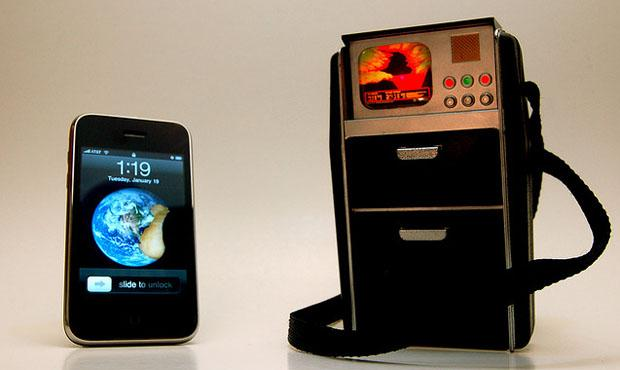An iPhone and a Star Trek-inspired tricorder