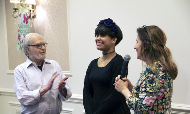 Joseph Feingold, Brianna Perez and filmmaker Kahane Cooperman at a screening of 'Joe's Violin.'