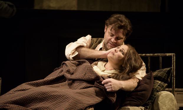 Anna Netrebko and Joseph Calleja in Puccini's 'La Boheme' at the Royal Opera House, Covent Garden.