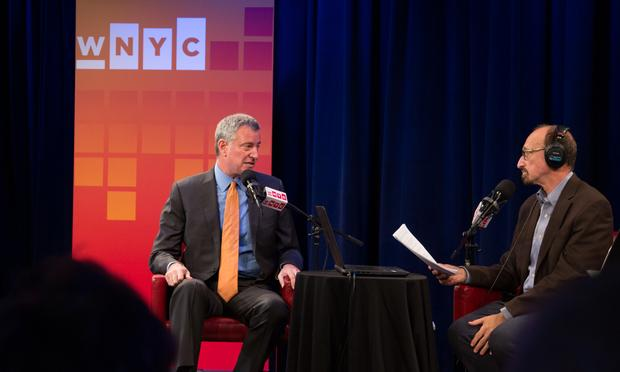 October 28, 2016 for Mayor de Blasio's appearance on The Brian Lehrer Show.