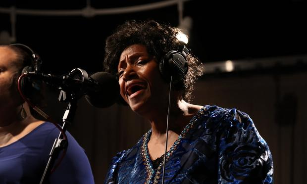 Naomi Shelton performs with the Gospel Queens in the Soundcheck studio.
