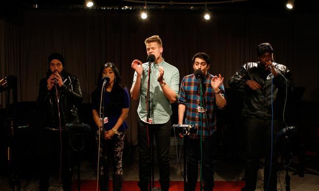 Pentatonix performs in the Soundcheck studio.