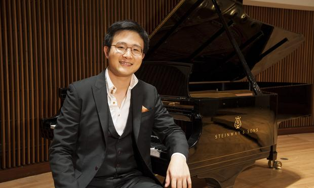 Pianist Yekwon Sunwoo at the Clarice Smith Performing Arts Center in Maryland