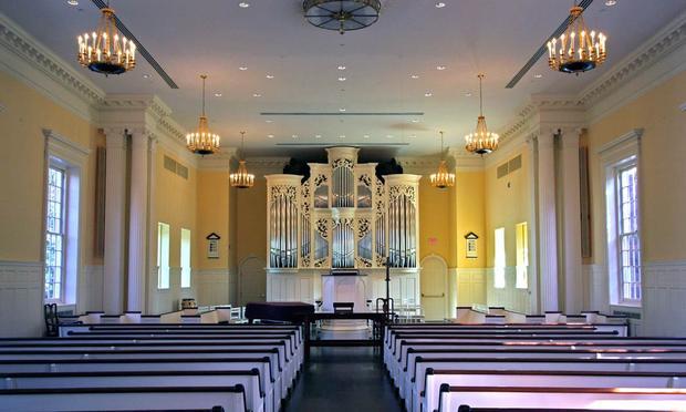 The 2000 Fritts organ at Princeton Theological Seminary.