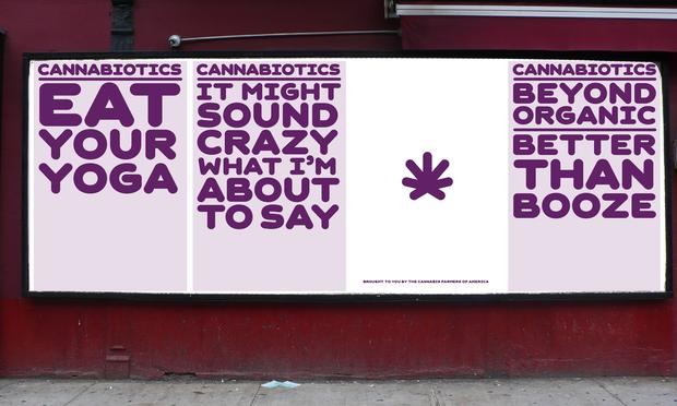 Posters from the Rebranding Marijuana campaign by The Original Champions of Design