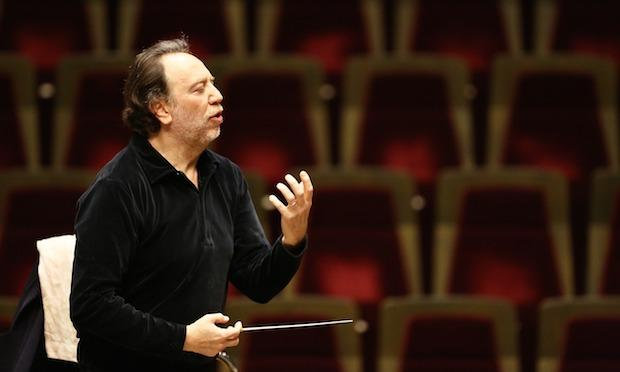 Riccardo Chailly rehearses with the Gewandhaus Orchestra in Leipzig, Germany on February 19, 2013.