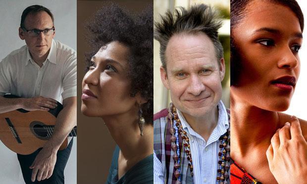 om left to right: Dan Lippel, Julia Bullock, Peter Sellars, and Leila Adu