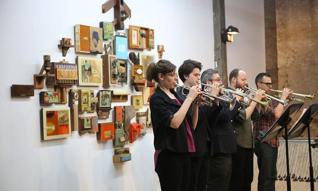 Tilt Brass performs at Invisible Dog Arts Center on May 1, 2014